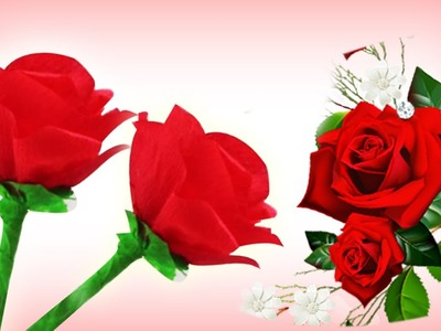 Paper Flower Making Tutorial | How To Make Paper Roses | Easy DIY Gift Ideas | Room Decor