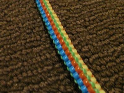 Pentagon (5-Strand) Stitch - Starting.Doing the Stitch