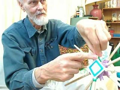 Putting together your own 12-sided Ojo de Dios yarn mandala
