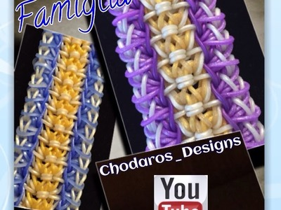 Rainbow Loom Band Famiglia Bracelet Tutorial. How To