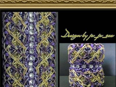 Rainbow Loom Band Royal Jewel Bracelet Tutorial.How To