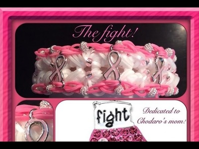 Rainbow Loom Band The Fight Bracelet Tutorial.How To