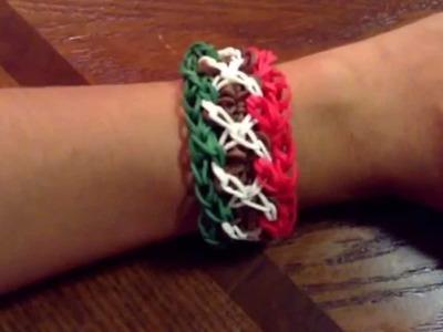 Rainbow Loom Mexican Flag bracelet