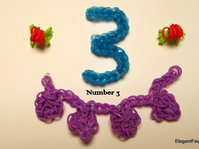Rainbow Loom Number 3 charm - How to