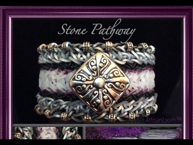Rainbow Loom Stone Pathway Bracelet Tutorial.How To