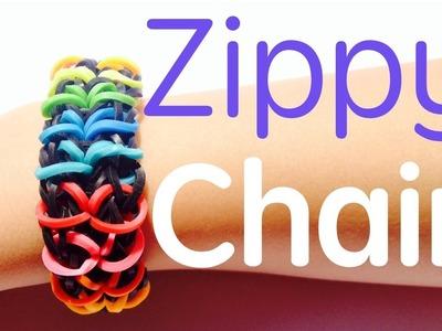 Rainbow Loom  - Zippy Chain bracelet  - Tutorial How To