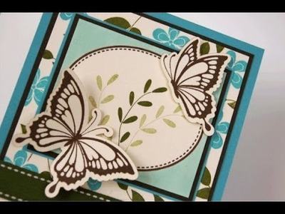 Shabby Spring Vintage Cuts Butterfly Card