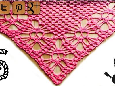 Skull shawl crochet pattern part 6 - by Kungen - © Woolpedia
