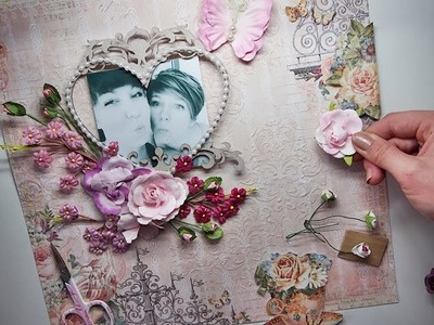Super EASY & Fast Scrapbooking page tutorial 'Sisters' for My Creative Scrapbook