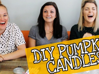 THE EASIEST DIY CANDLES with JOSELYN AND MAMRIE. Grace Helbig