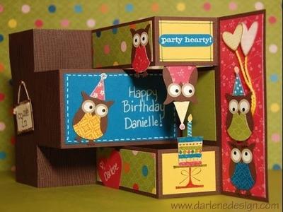 Tri Fold Shutter Owl Party