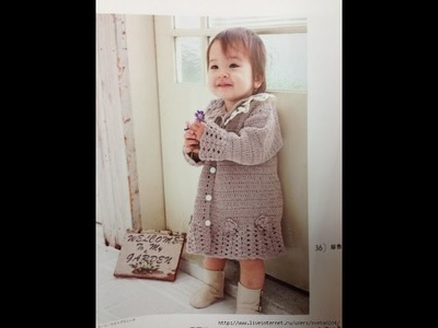VERY EASY crochet cardigan. sweater. jumper tutorial - baby and child sizes 42