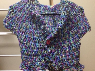 Women's Shrug crochet tutorial Tamil
