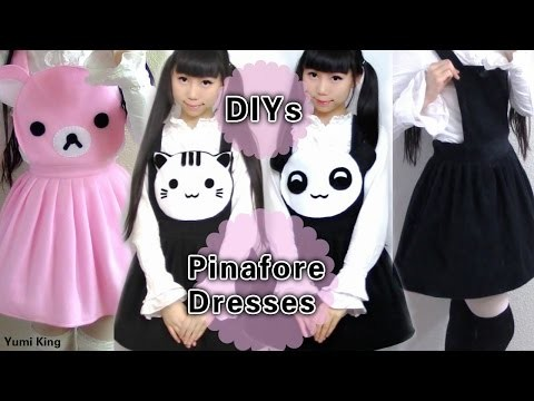 4 DIY Pinafore Dresses: DY Neko Atsume Dress + Panda Dress + Rilakkuma Dresses