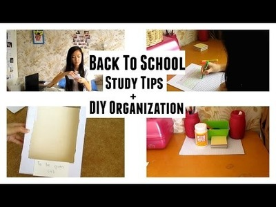 Back To School Study Tips + DIY Organization | Aianna Khuu