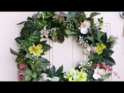 Create A Stunning Floral Wreath In 30 Minutes - DIY  - Guidecentral