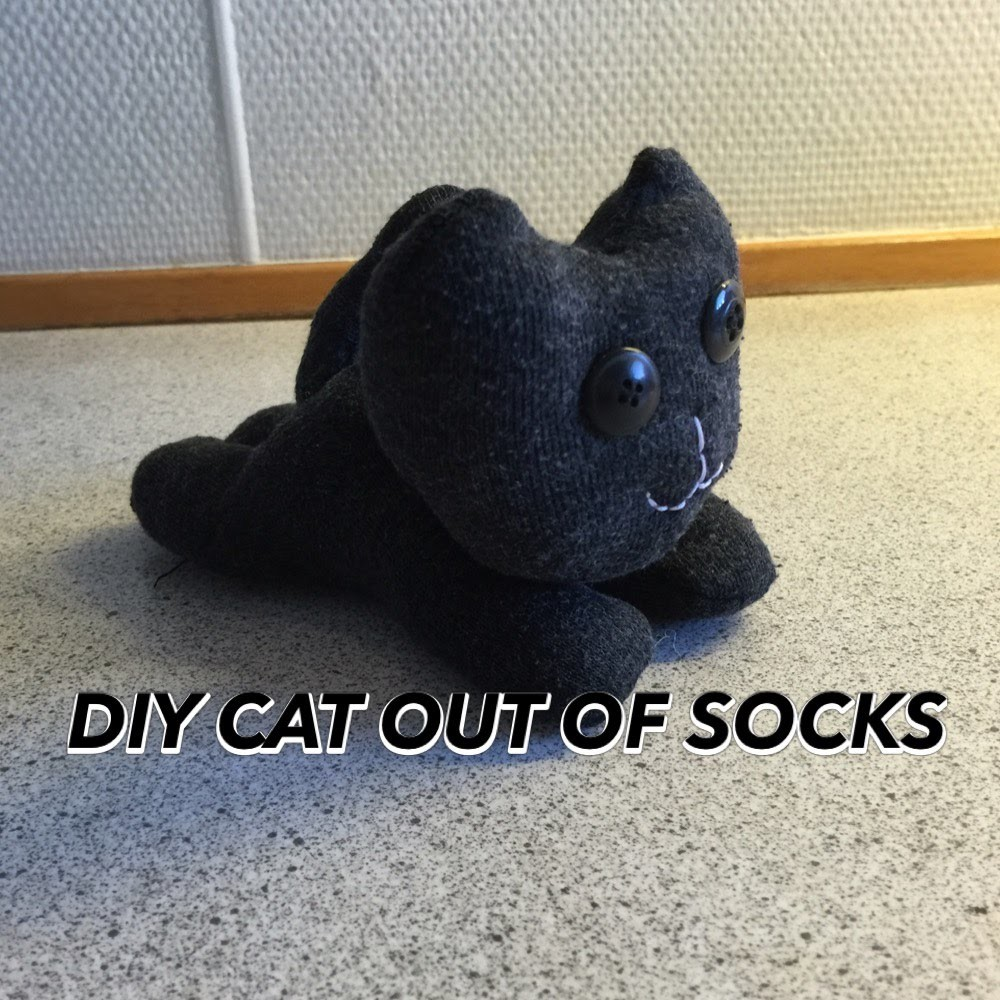 DIY CAT OUT OF SOCKS