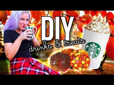 DIY Fall Starbucks Drinks & Treats!