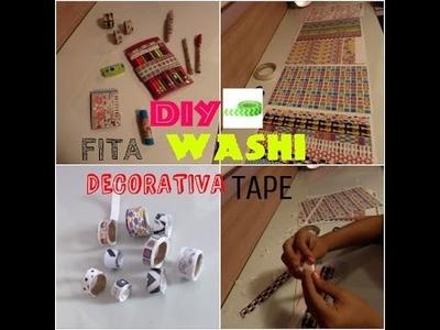 DIY fita decorativa WASHI TAPE !
