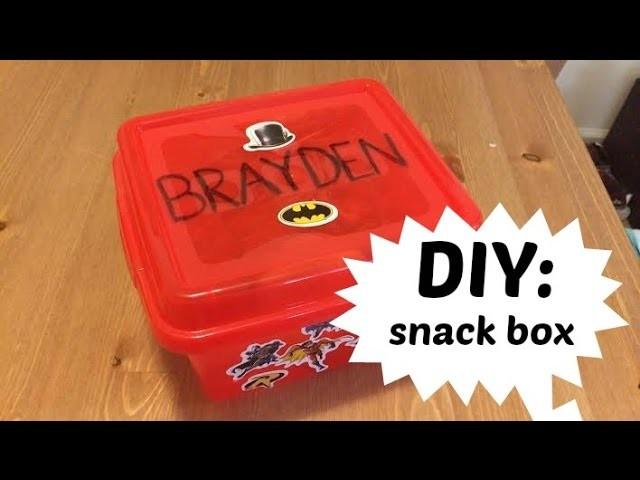DIY: Fridge Snack Box