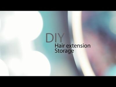DIY Hair extension storage.travel