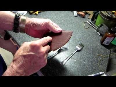 DIY leather axe sheath Part 2