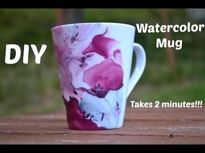 DIY ♡ Make your own Watercolor Mug with nailpolishes !!!