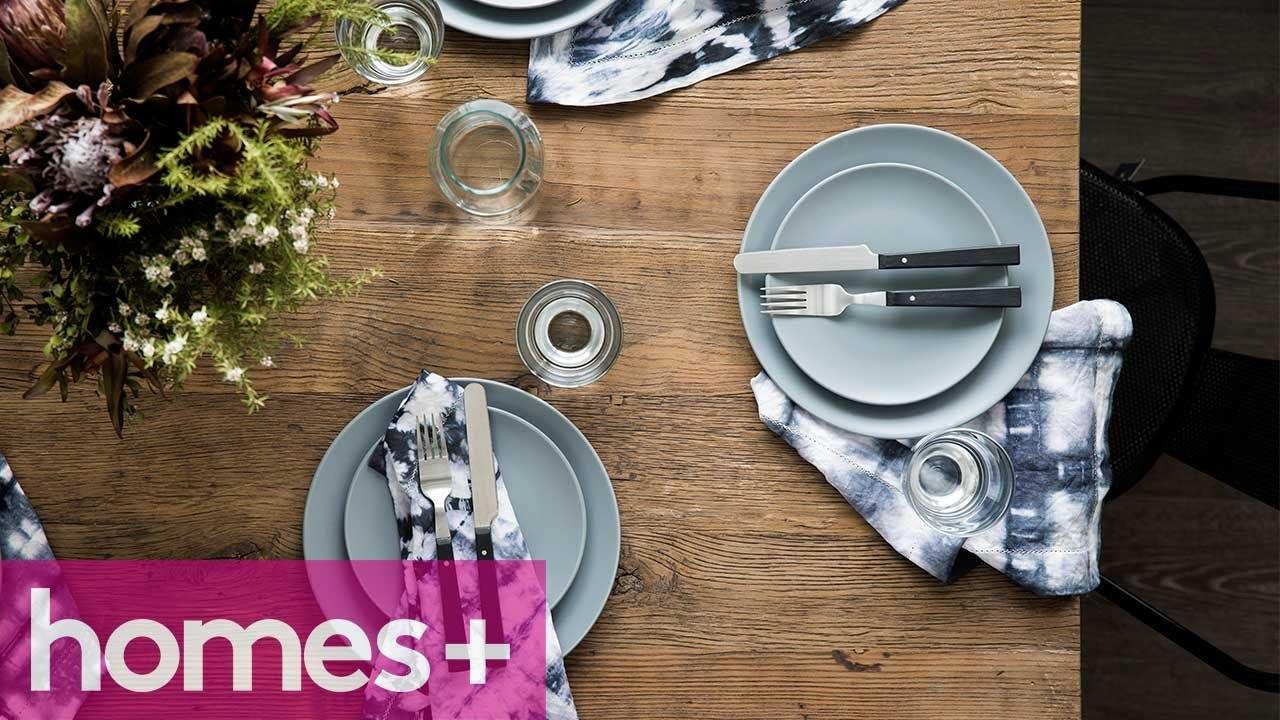 DIY PROJECT: Shibori napkins - homes+