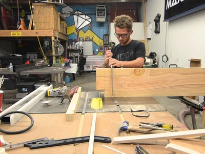 DIY rustic reclaimed wood and steel bench build
