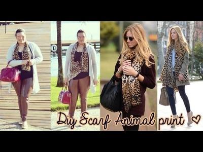 Diy Scarf Animal print