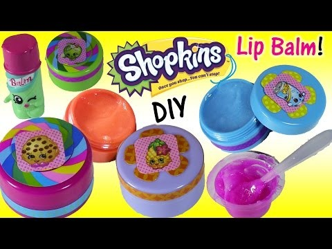 DIY SHOPKINS Lip Balm! Mix Your Own Colors & Flavors! Kooky Cookie Apple Blossom! FUN