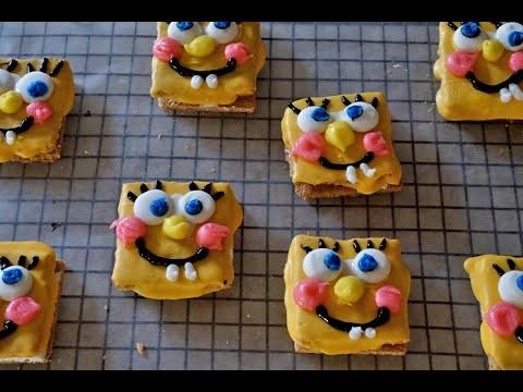 How to make SpongeBob SquarePants S'mores - DIY Recipe for Kids