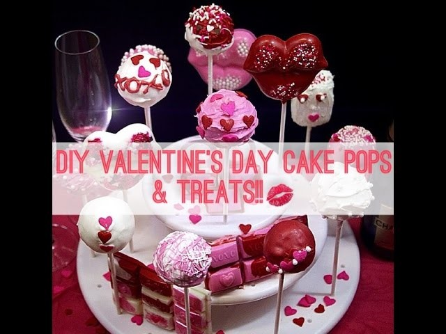 HOW TO: STEP BY STEP EASY DIY VALENTINES DAY CAKE POPS!!