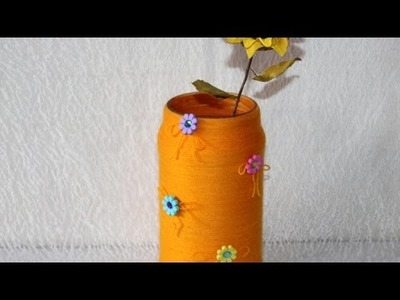 Make a Summer Vase from a Glass Jar - DIY Home - Guidecentral