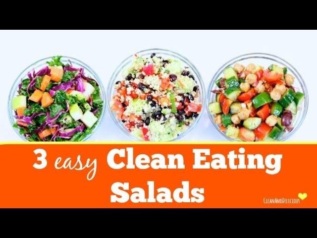 3 Simple Salads | #CleanAndGreenWithDani