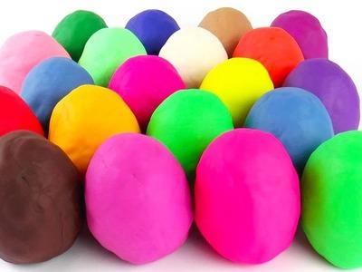 30 Play Doh Surprise Eggs Kinder surprise eggs unboxing Cars 2 Mickey Mouse Dora the Explorer
