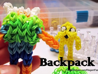 Adventure Time Backpack for Finn Charm - How to Rainbow Loom