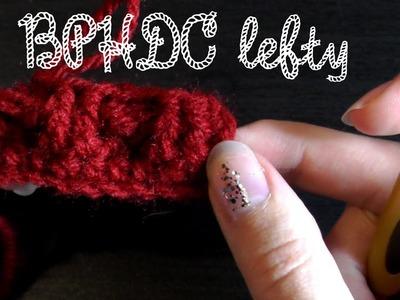 Back post half double crochet - Lefty crochet basics