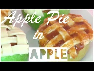 DIY Apple Pie Baked Inside Apples *Holiday Treats*