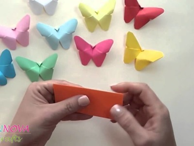DIY crafts  Paper BUTTERFLIES very EASY   Innova Crafts