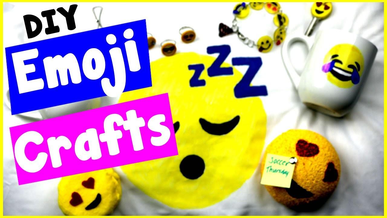 DIY Emoji Craft Ideas! 10 Cool DIY Project Tutorials Bracelets, Candles, Notepads, & More