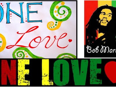 DIY Fancy Letters Lyrics Art - Bob Marley - One love - DIY Crafts Tutorials - Giulia's Art