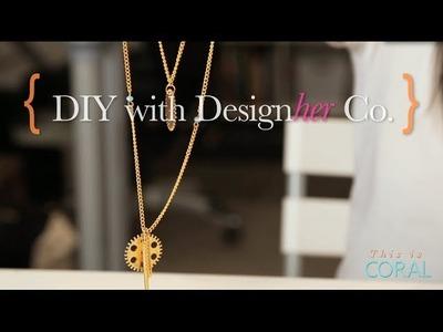 DIY Gold Statement Necklace