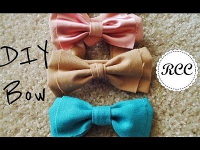 DIY Hair Bow and Bow Belt