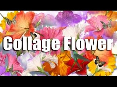 DIY - How To Make Collage Flower | Creative Collage Art Work | Easy Drawing Steps