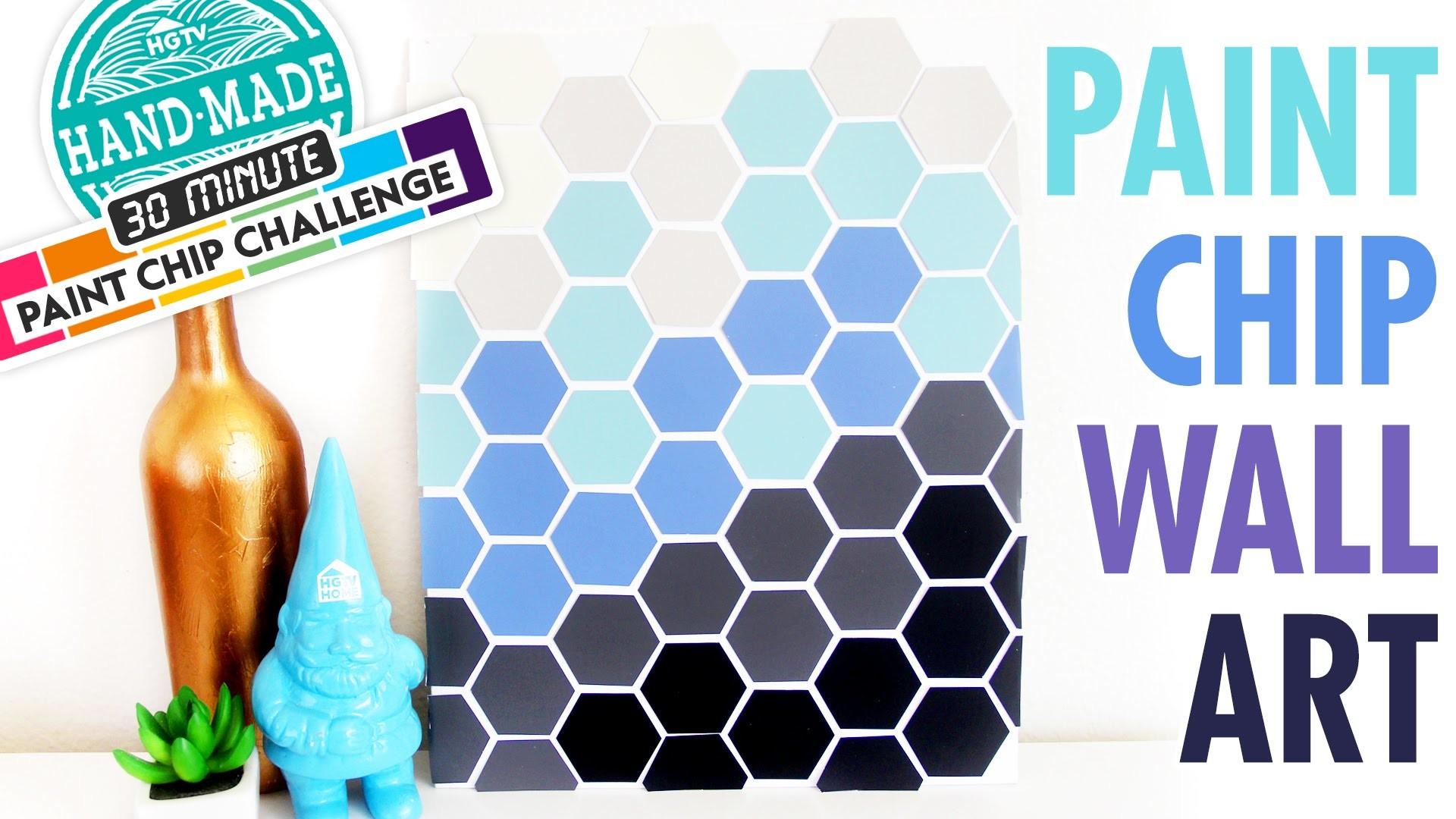 DIY Paint Chip Wall Art - Marianne's 30 Minute Craft Challenge - HGTV Handmade