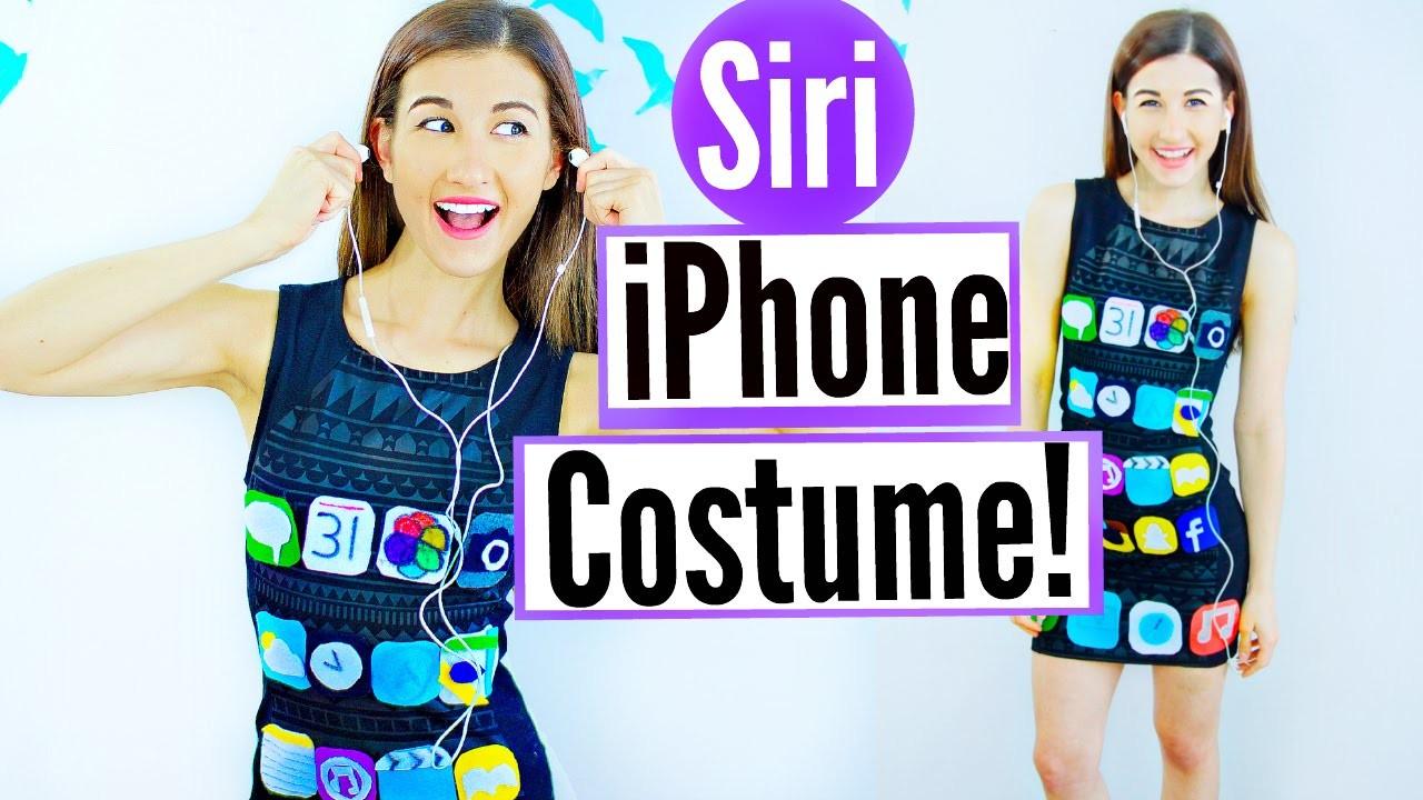 DIY Siri iPhone Halloween Costume Idea! | Last Minute Halloween Costume Idea For Teenagers!