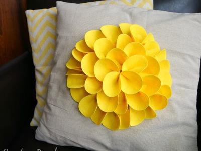 Felt Petal No Sew Flower Pillow