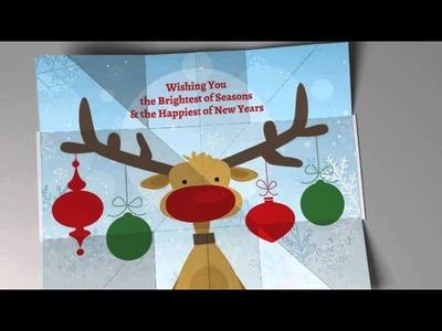 Festive Reindeer Holiday Card - EXP 1 N4 - Red Paper Plane