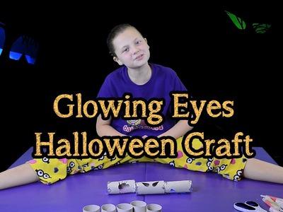 Glowing Eyes Halloween Craft   Bethany G Spooky Series